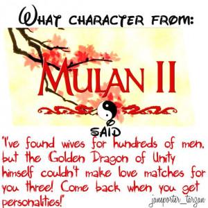 Mulan 2 quote