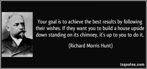 on its chimney it 39 s up to you to do it Richard Morris Hunt