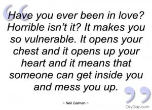 have you ever been in love horrible isn't neil gaiman