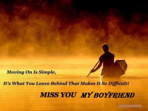 Miss You Message for Boyfriend
