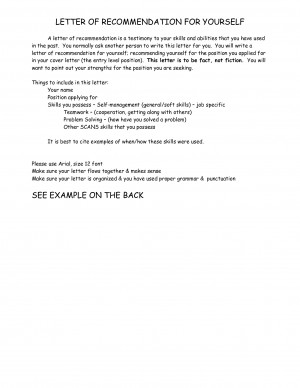Examples of Good Letters of Recommendation - Download as DOC by Mary ...