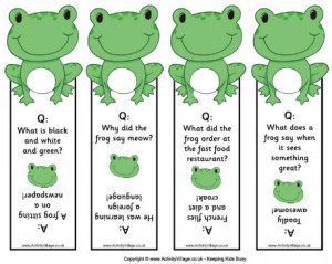 ... frog printables animal printables animal bookmarks jokes for kids joke