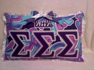 Sorority Greek letter little or big sister Pillow Customize for your ...