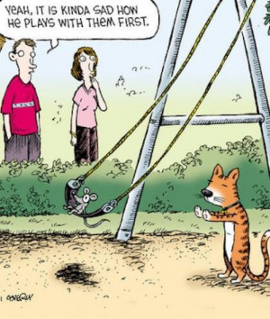 Funny cat and mouse cartoon
