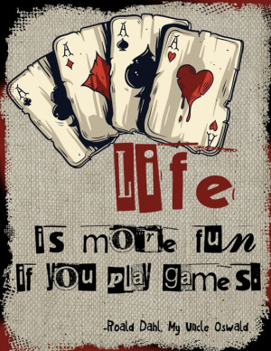 Wall Art Print -Gambling Quotes-Cards-Chance-Play…