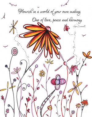 Inspirational Floral Ladybug Dragonfly Daisy Art With Uplifting Quote ...