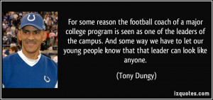 For some reason the football coach of a major college program is seen ...