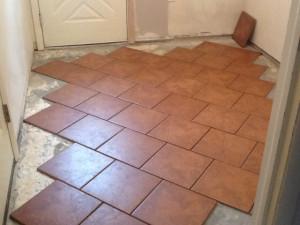Home Improvement--General / Offset diamond floor tile