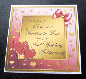 Sister-Brother-In-Law-2nd-Wedding-Anniversary-Card-4-Colours