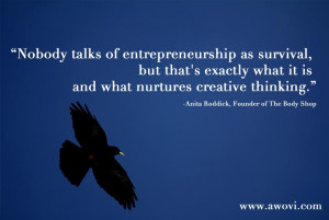 anita roddick, quotes for entrepreneurs and business owners,