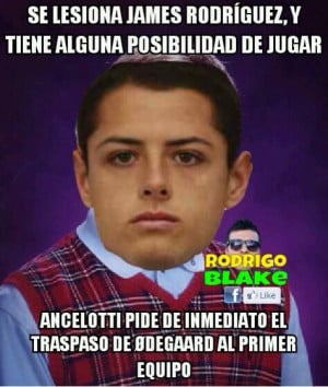 Los memes del Real Madrid y 'Chicharito'
