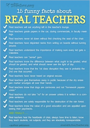 15 Funny Facts About Real Teachers (infographic)