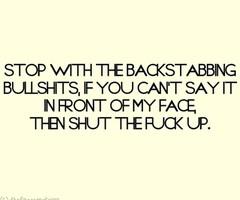 Backstabbing Quotes Saying images