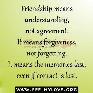 Friendship Means...