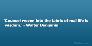 Walter Benjamin Quote