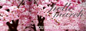 Hello March   Facebook Cover Photo