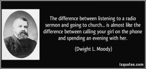 The difference between listening to a radio sermon and going to church ...