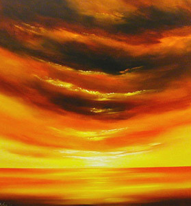 Quotes About Belief Beautiful Orange Sunset The Beach With