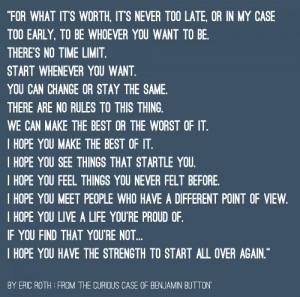 quote #4 : It's Never Too Late… » It's Never Too Late ...