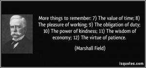 More things to remember: 7) The value of time; 8) The pleasure of ...