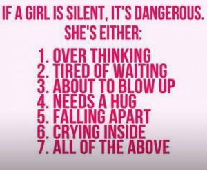 Silent girl spells DANGER
