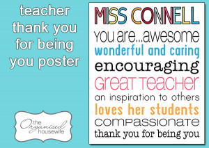 Thank You Quotes For Teachers Thank You Teacher Quotes