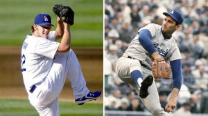 ... is starting to challenge Sandy Koufax for southpaw supremacy in L.A