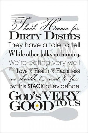 Thankful For Dirty Dishes
