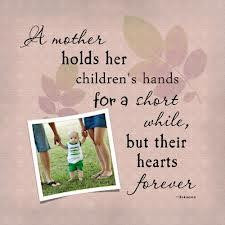 mother holds her children's hands for a short while, But their ...