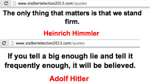"... famous quotes"" on the St. Albert Election Action Committee website"