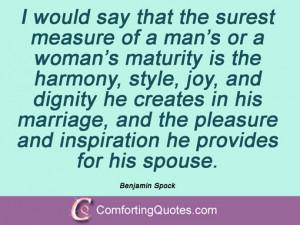 Benjamin Spock Quotes