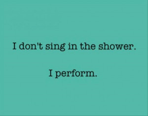 singing in the shower funny quotes