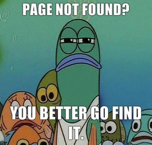 found, funny, page, sign, sponge bob, text