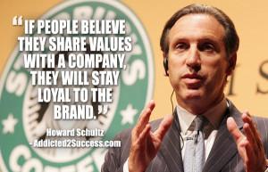 howard schultz branding quote