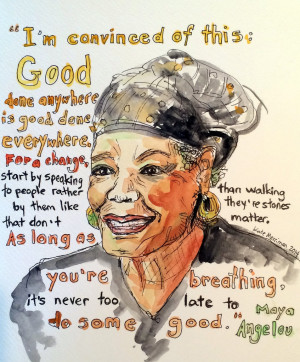 """... To Be A Mentor You Must Care"""": Maya Angelou, The Legacy of a Teacher"""