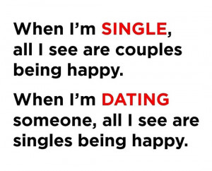 Being single dating quotes