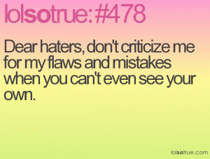... me For Any Flaws And Mistakes When You Can't Even See Your Own