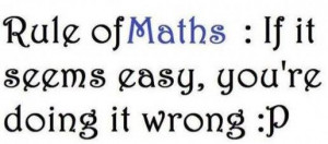 Math Love Quotes Sayings Math Quote Rule of Maths If