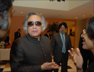 Image: Environment Minister Jairam Ramesh at a meeting with AOSIS ...