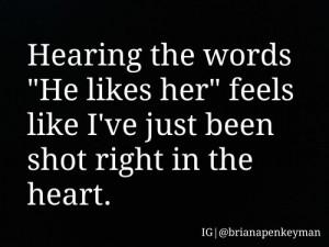 heartbroken #shot #heart #ouch #love #crush #crying #hopeless