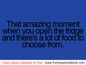 Amazing moment when fridge full - Funny Quotes