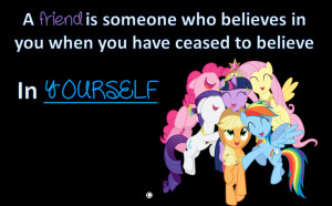 MLP Friendship Banner- Friends Who Believes in You by millisiana