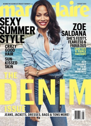 Zoe Saldana 2014 Marie Claire Ex-Boyfriend Interview Quotes