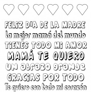 mothers day spanish printable