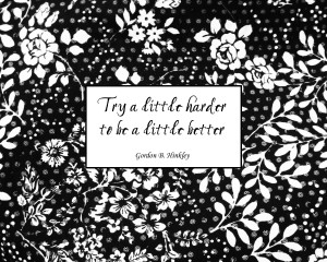... Life Quotes and Sayings - try a little harder to be a little better