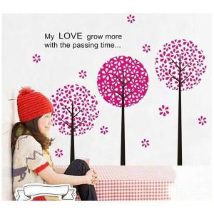 Home Wall Stickers > Three Cherry Blossom Tree Wall Sticker