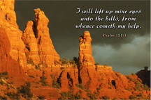 Chapel of the Holy Cross in Sedona, AZ photo with Bible quotes by