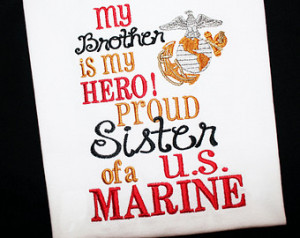 Daddy Mommy is My Hero Proud Sister Son Daughter of a US Marine ...