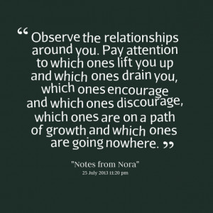 Quotes Picture: observe the relationships around you pay attention to ...