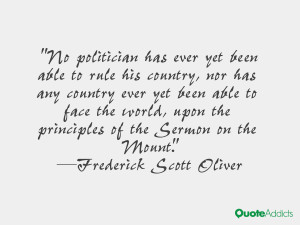 Quotes by Frederick Scott Oliver